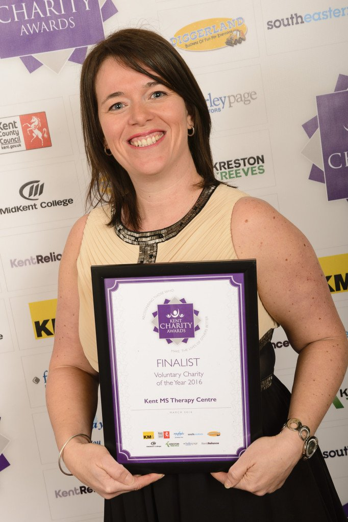Voluntary Charity of the Year finalists - Helen Wathen for Kent MS Therapy Centre. The Kent Charity Awards finals 2016, from the Leas Cliff Hall, Folkestone. Picture: Andy Payton