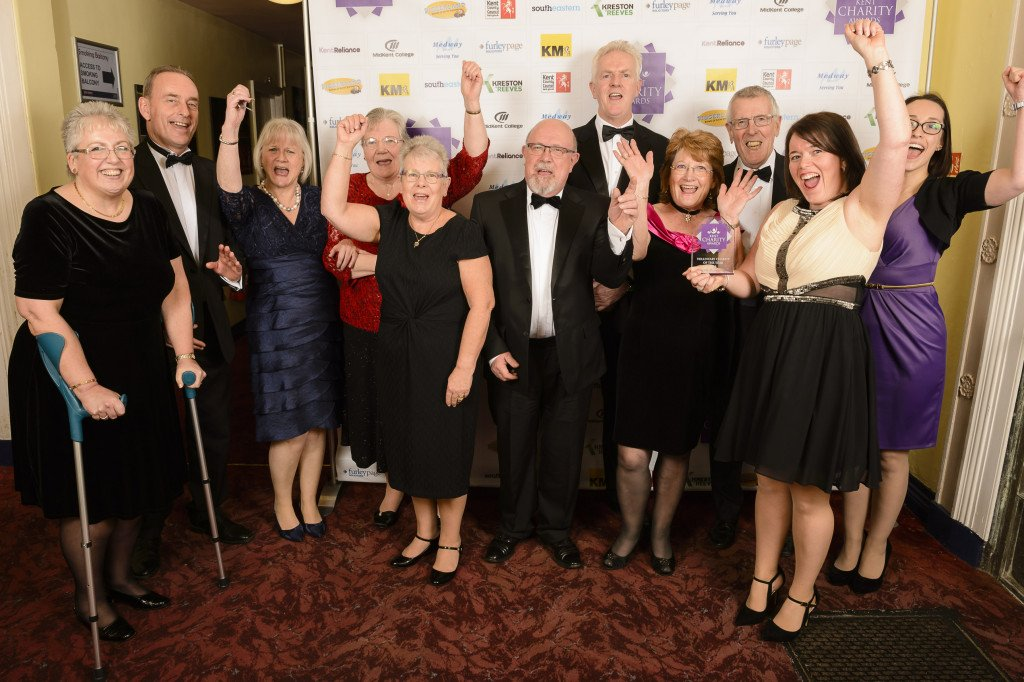 Voluntary Charity of the Year, Kent MS Therapy Centre with sponsor Peter Webb, second left. The Kent Charity Awards finals 2016, from the Leas Cliff Hall, Folkestone. Picture: Andy Payton