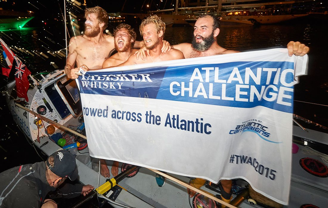 the Atlantic Lions finish their trans-atlantic row