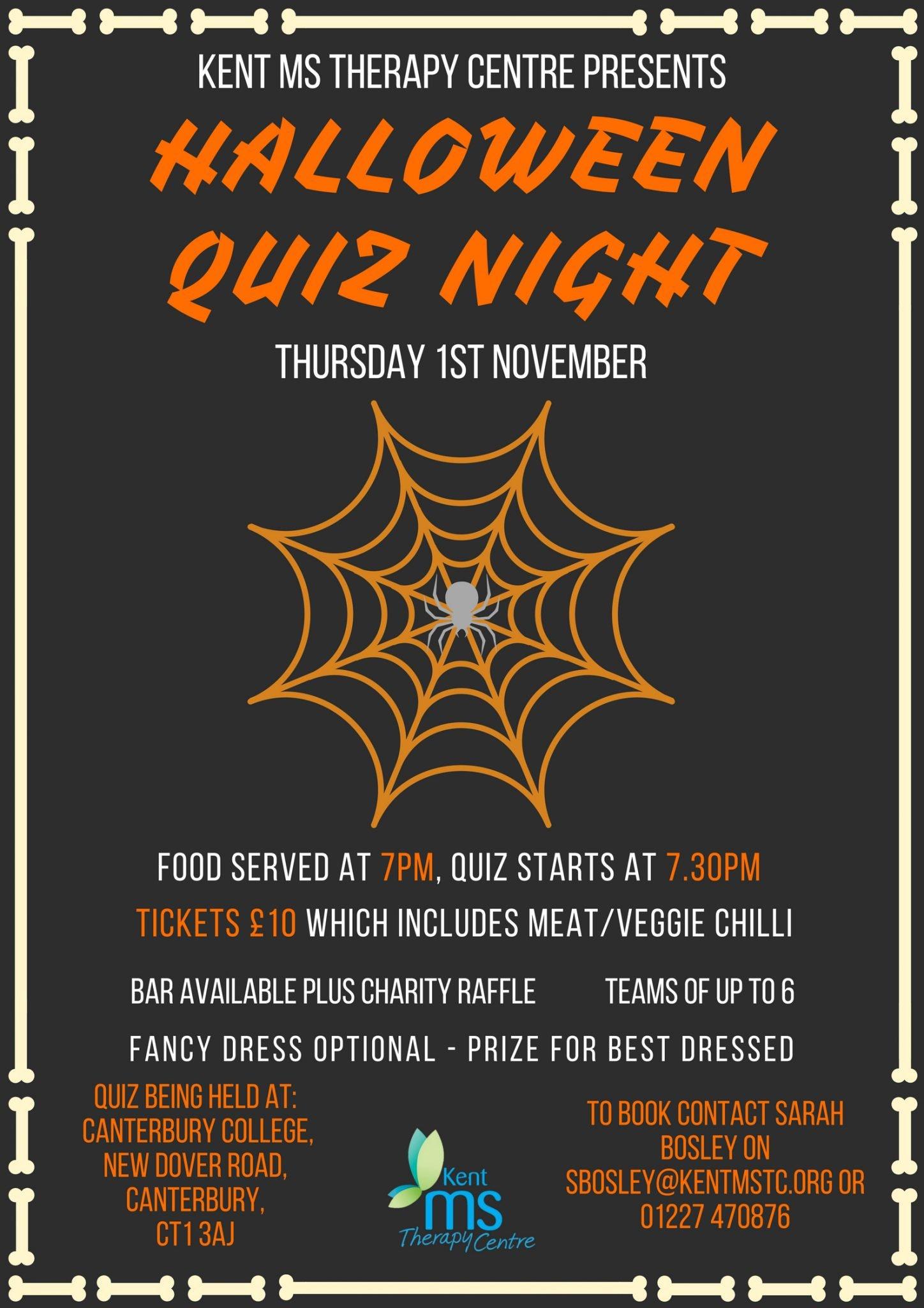 Halloween 1 November.Halloween Quiz Kent Ms Therapy Centre