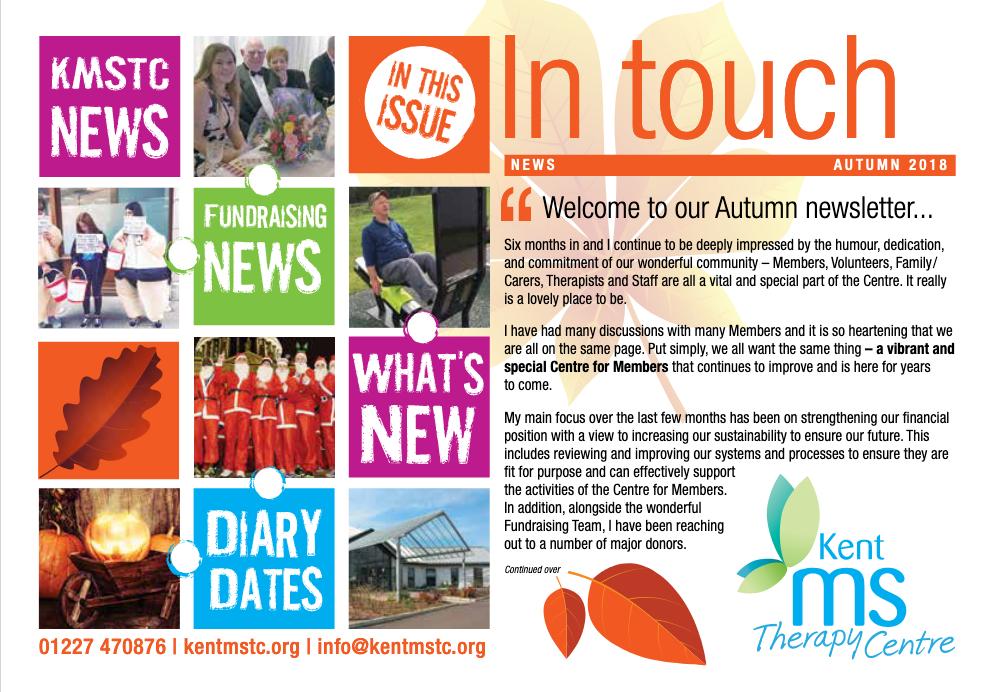 Members newsletter Autumn 2018